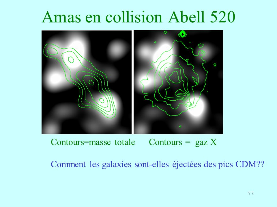 Amas en collision Abell 520