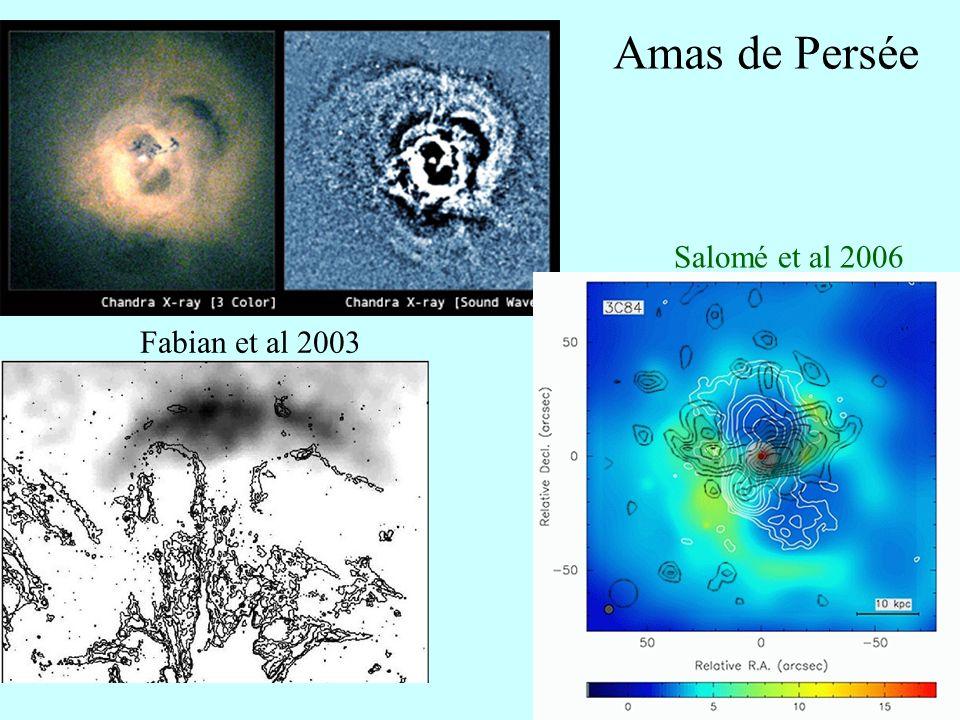 Amas de Persée Salomé et al 2006 Fabian et al 2003