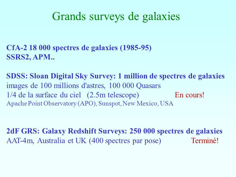Grands surveys de galaxies