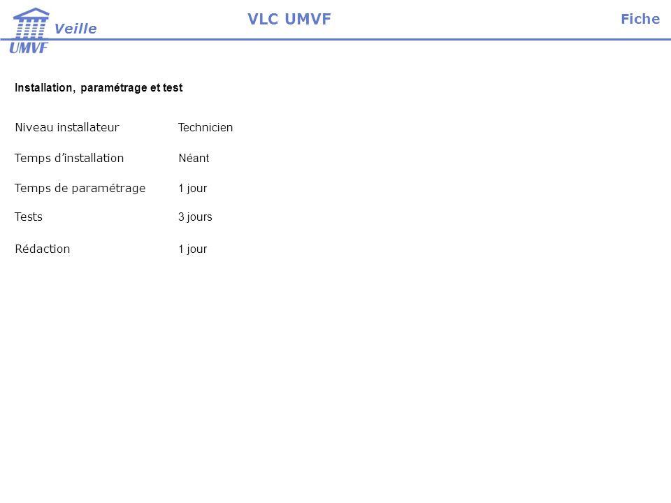 VLC UMVF Fiche Veille Installation, paramétrage et test