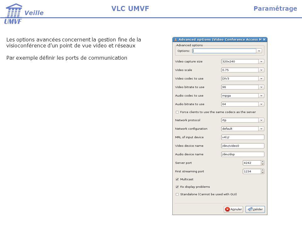 VLC UMVF Paramétrage Veille