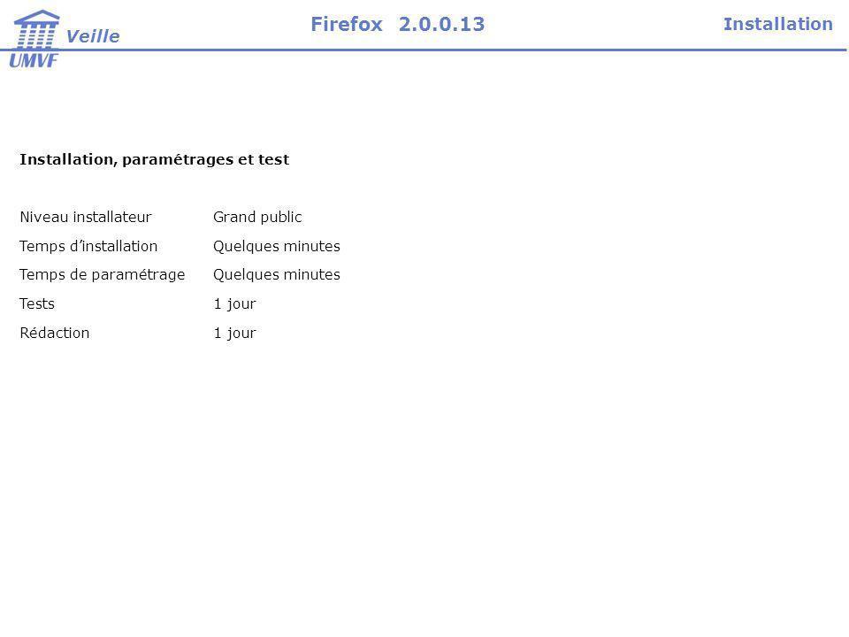 Firefox 2.0.0.13 Installation Veille
