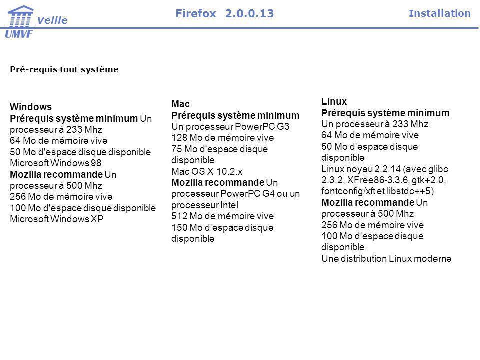 Firefox 2.0.0.13 Installation Veille Mac