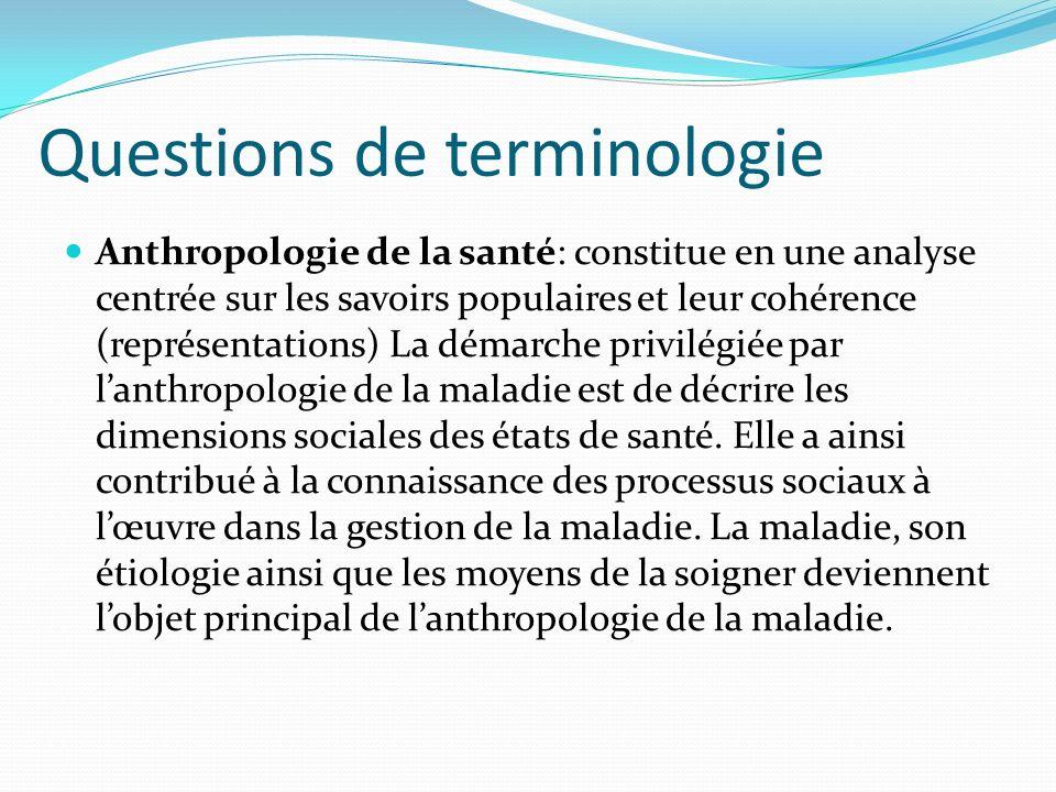 Questions de terminologie