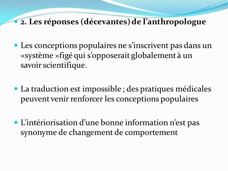 Les réponses (décevantes) de l'anthropologue
