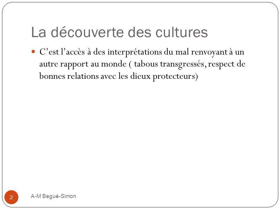 La découverte des cultures