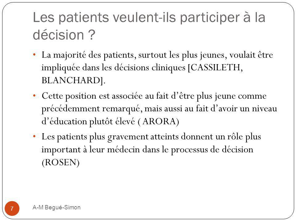 Les patients veulent-ils participer à la décision