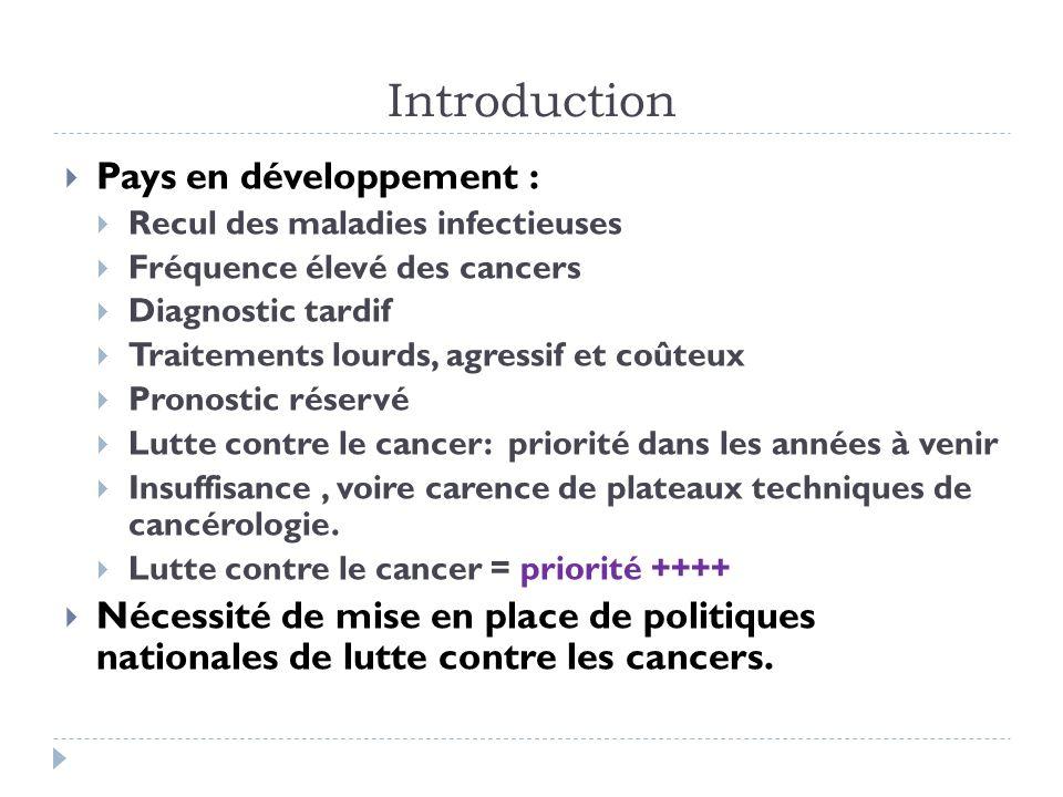 Introduction Pays en développement :