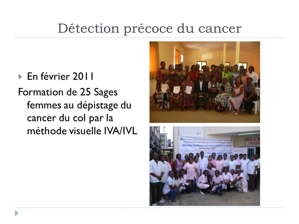 Détection précoce du cancer