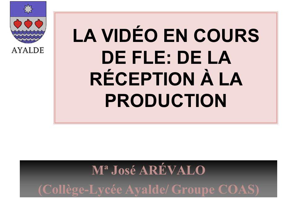LA VIDÉO EN COURS DE FLE: DE LA RÉCEPTION À LA PRODUCTION