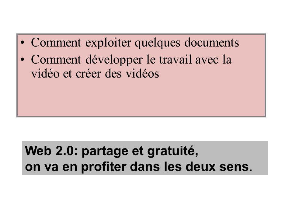 Comment exploiter quelques documents