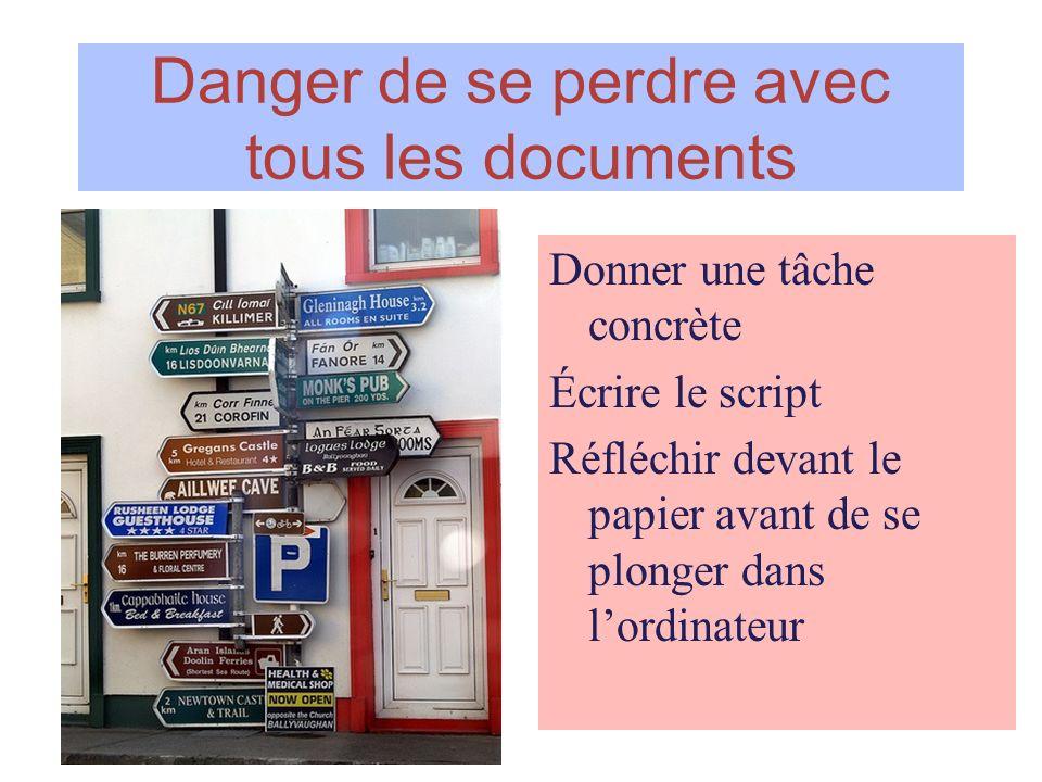Danger de se perdre avec tous les documents