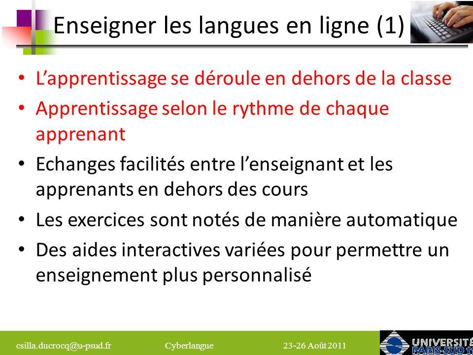 Enseigner les langues en ligne (1)
