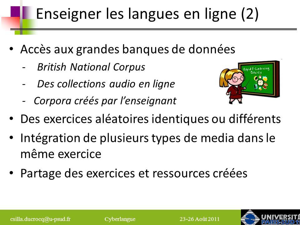 Enseigner les langues en ligne (2)