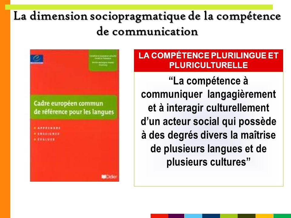 La dimension sociopragmatique de la compétence de communication