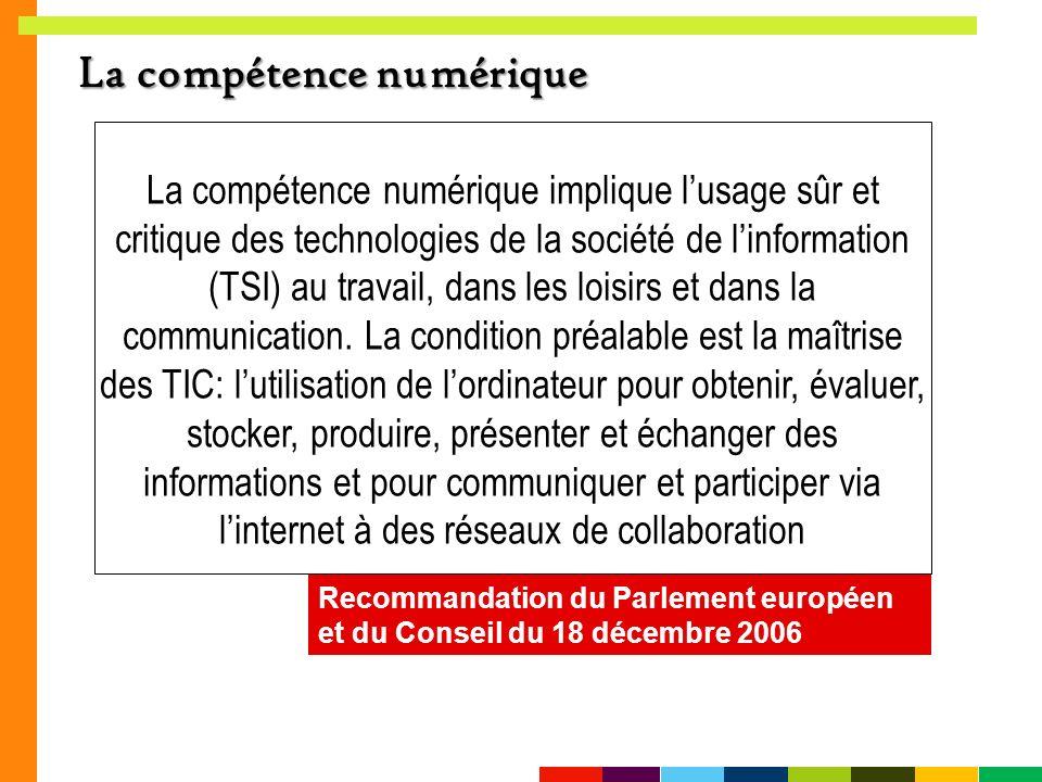 La compétence numérique
