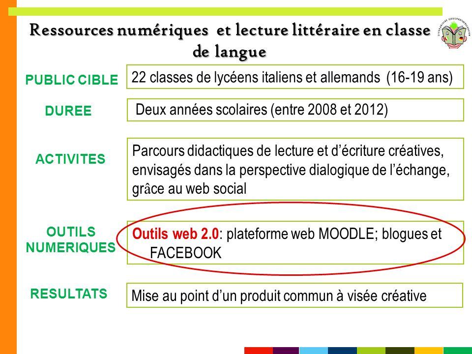Ressources numériques et lecture littéraire en classe de langue