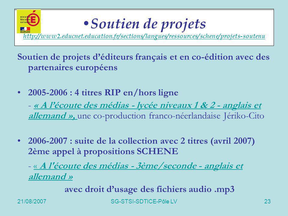 avec droit d'usage des fichiers audio .mp3