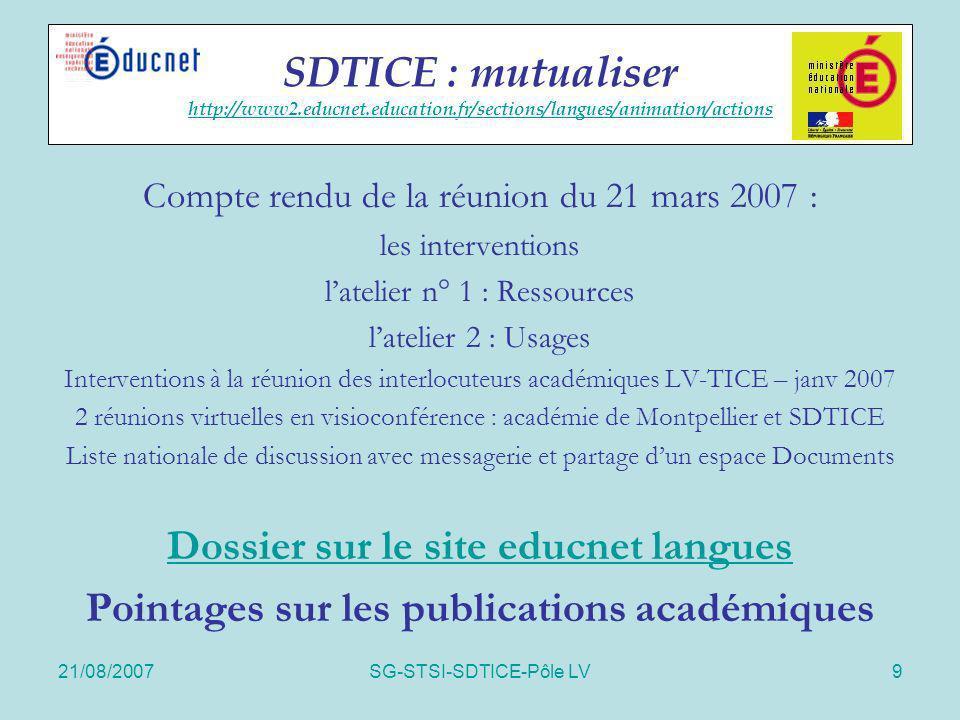 Dossier sur le site educnet langues