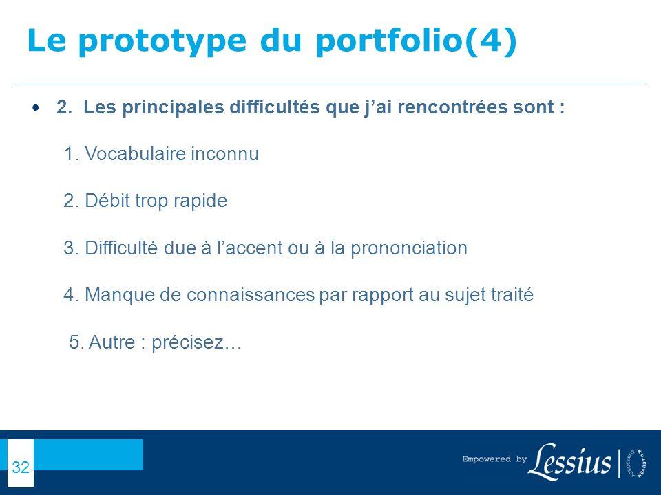 Le prototype du portfolio(4)