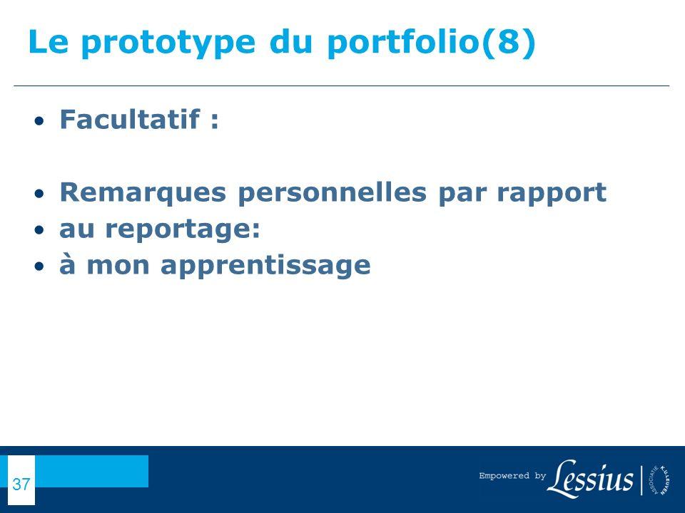 Le prototype du portfolio(8)