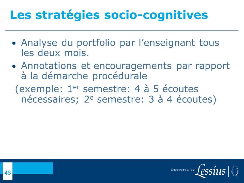 Les stratégies socio-cognitives