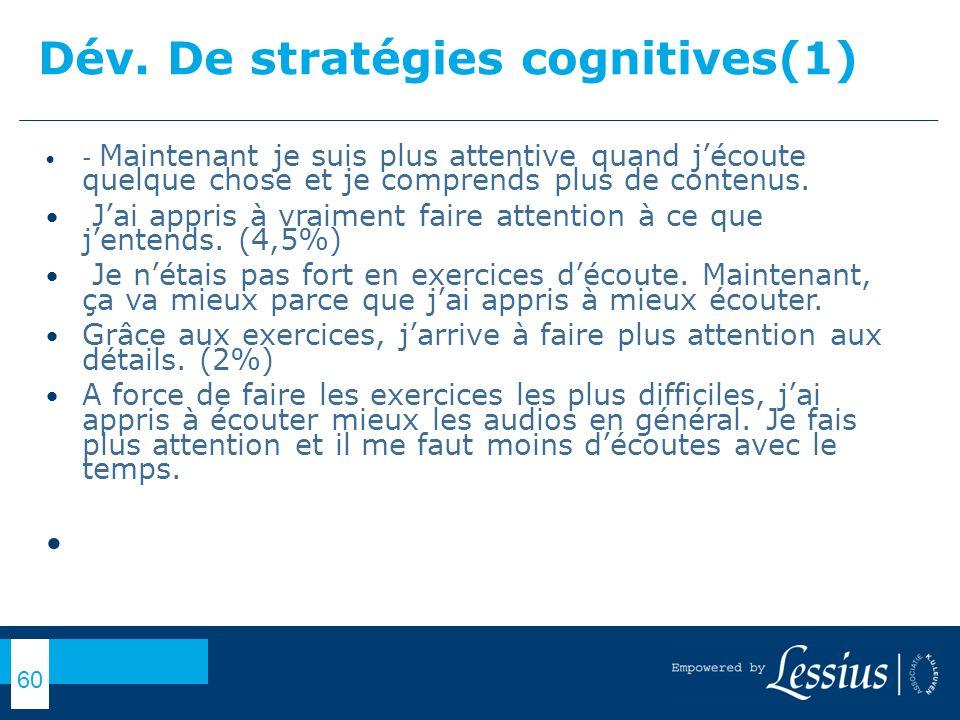 Dév. De stratégies cognitives(1)