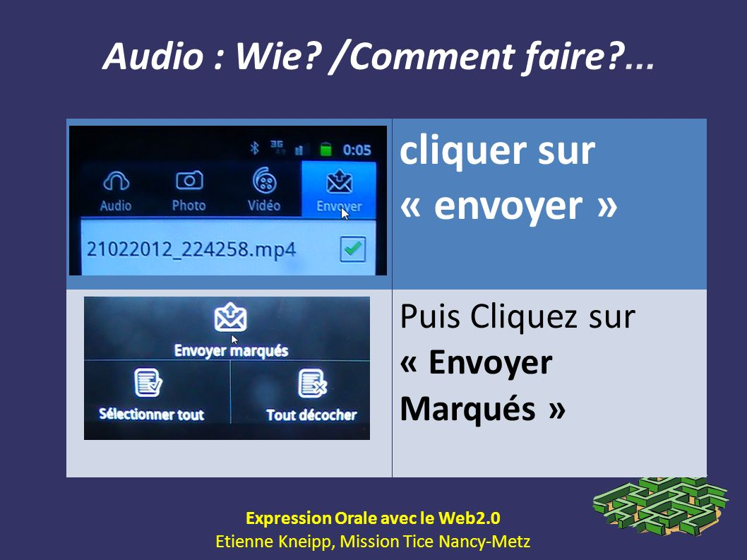 Audio : Wie /Comment faire ... Expression Orale avec le Web2.0