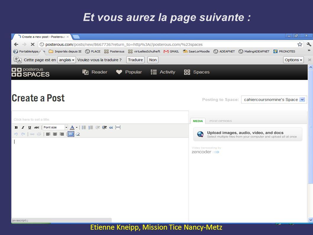 Et vous aurez la page suivante : Expression Orale avec le Web2.0