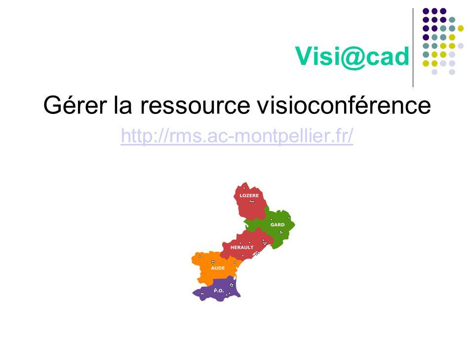 Gérer la ressource visioconférence