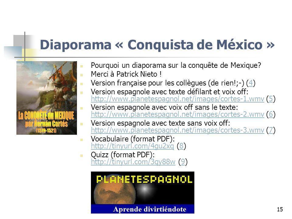 Diaporama « Conquista de México »