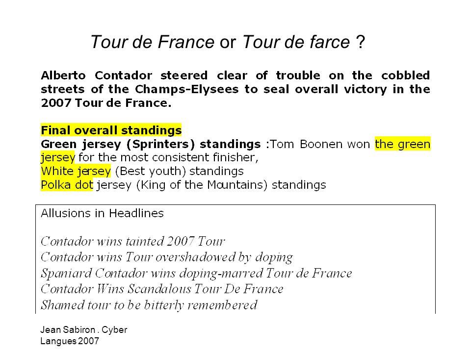 Tour de France or Tour de farce
