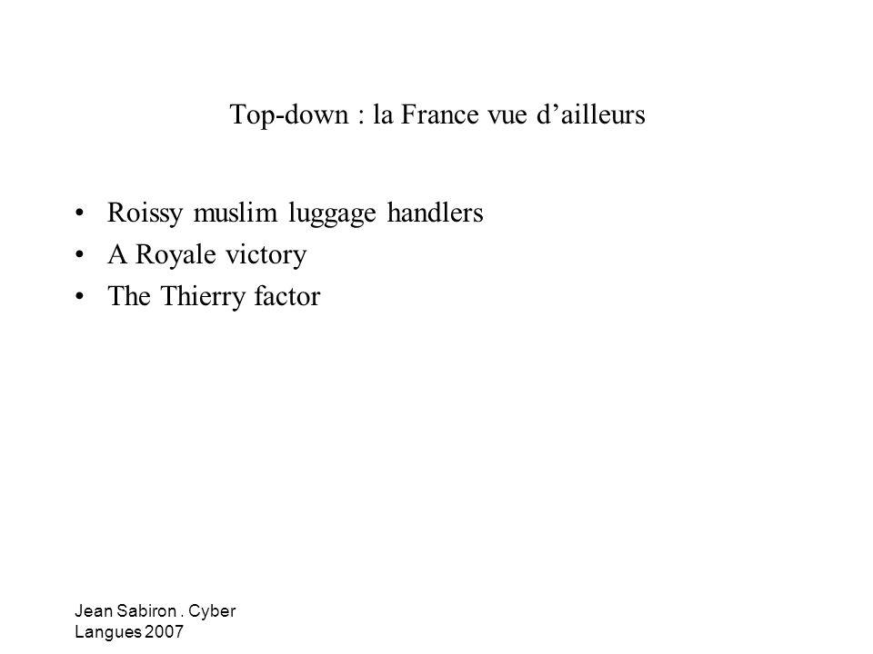 Top-down : la France vue d'ailleurs