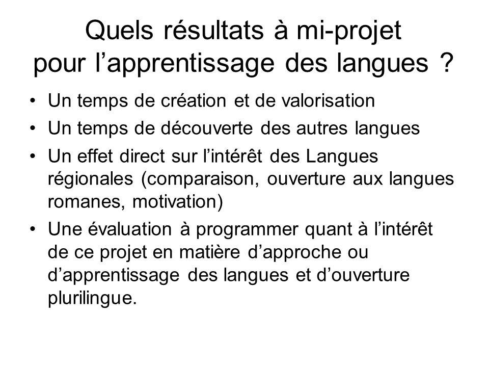 Quels résultats à mi-projet pour l'apprentissage des langues
