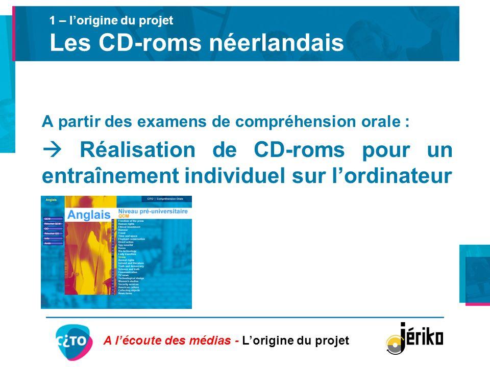 1 – l'origine du projet Les CD-roms néerlandais