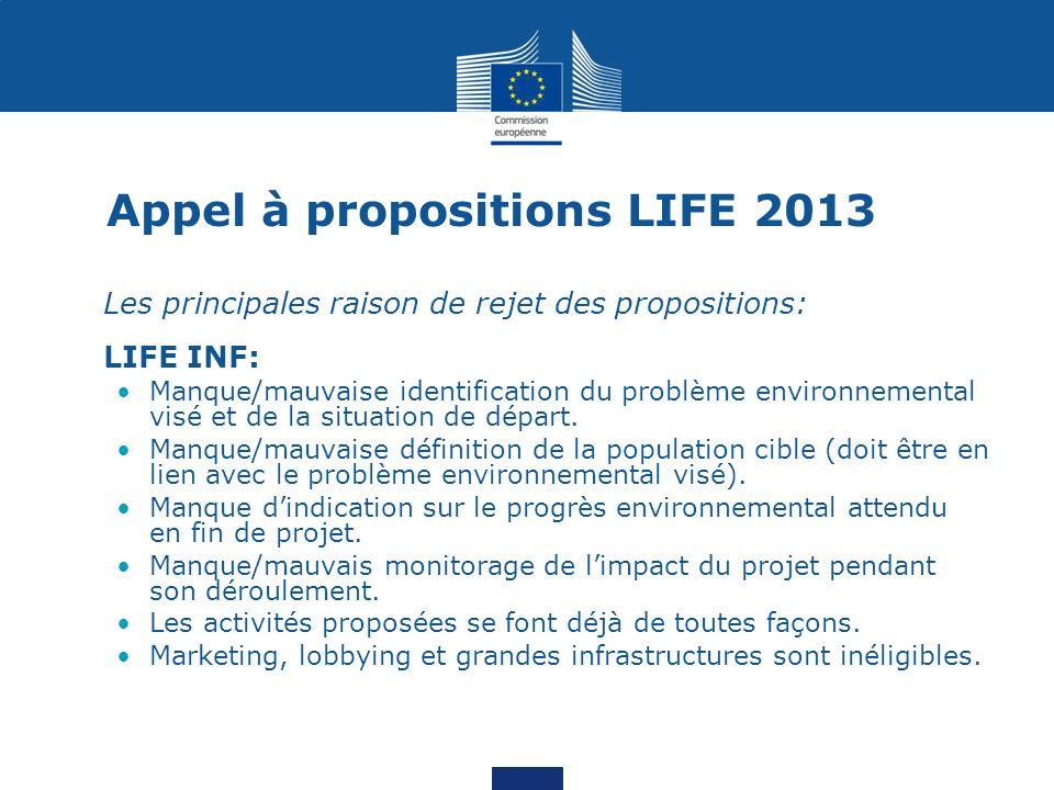 Appel à propositions LIFE 2013