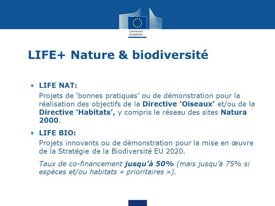 LIFE+ Nature & biodiversité
