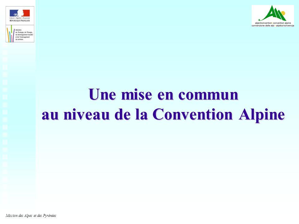 Une mise en commun au niveau de la Convention Alpine