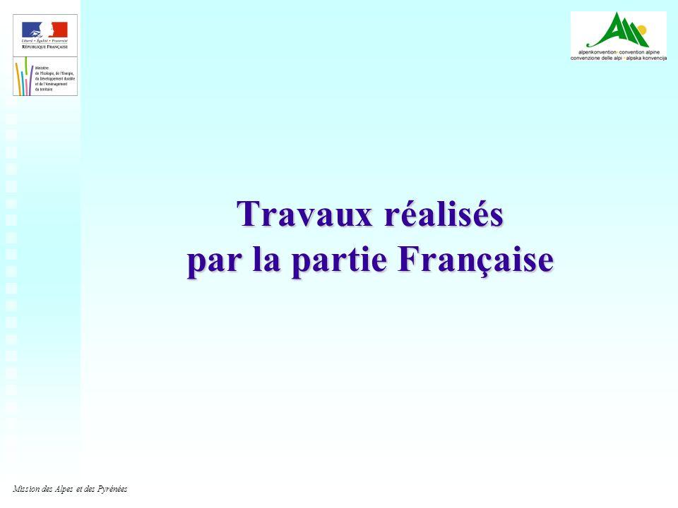 Travaux réalisés par la partie Française