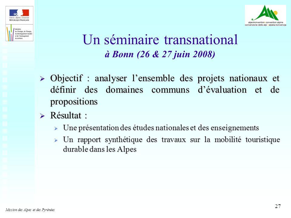 Un séminaire transnational à Bonn (26 & 27 juin 2008)