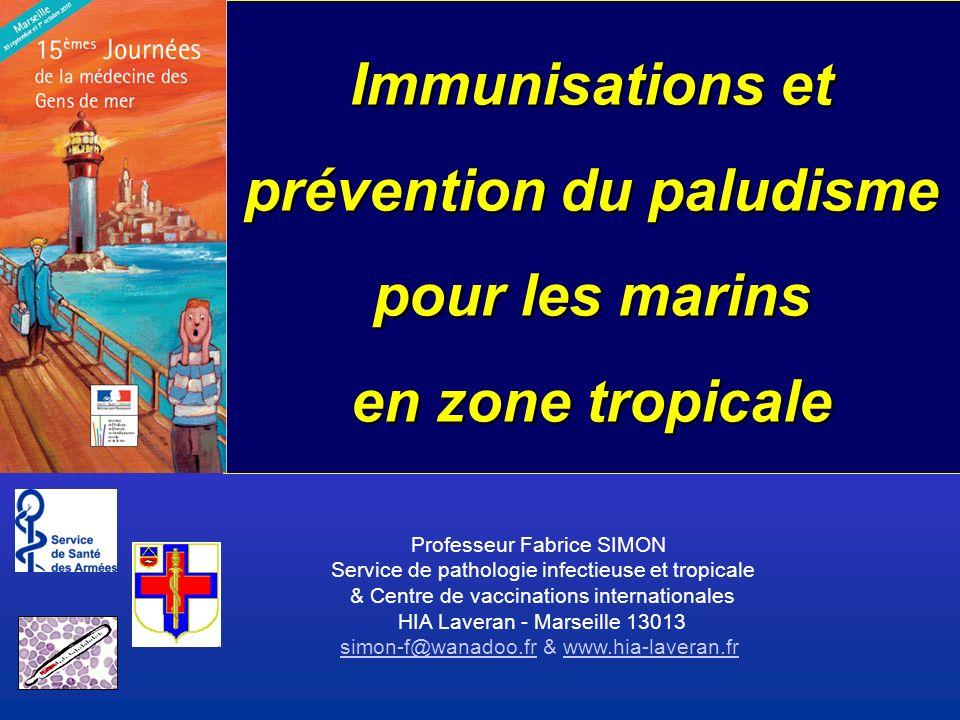 Immunisations et prévention du paludisme pour les marins en zone tropicale