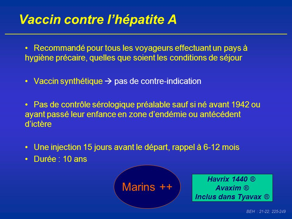 Vaccin contre l'hépatite A