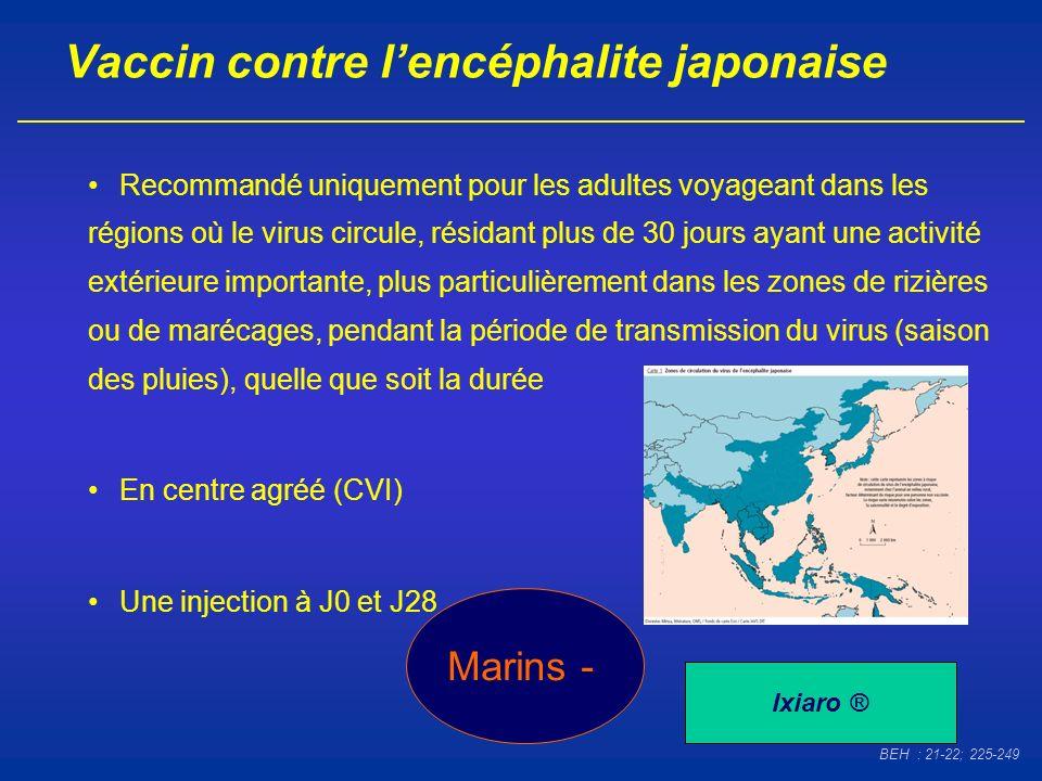 Vaccin contre l'encéphalite japonaise
