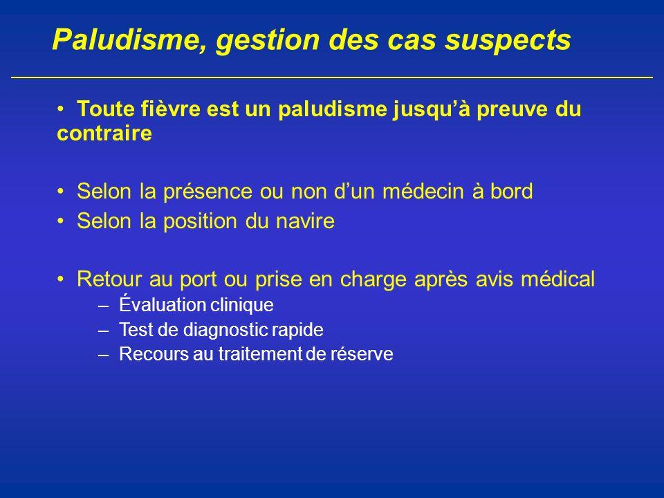 Paludisme, gestion des cas suspects