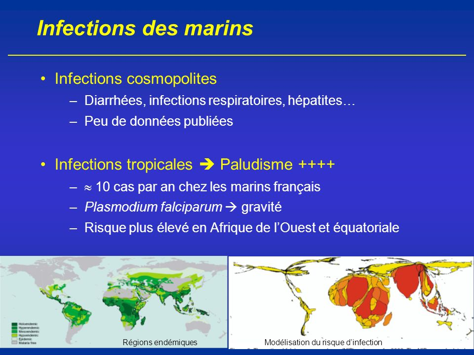 Infections des marins Infections cosmopolites