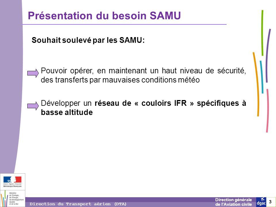 Souhait soulevé par les SAMU:
