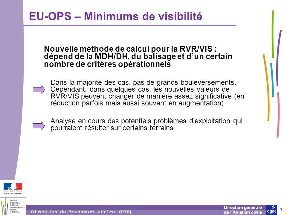 EU-OPS – Minimums de visibilité