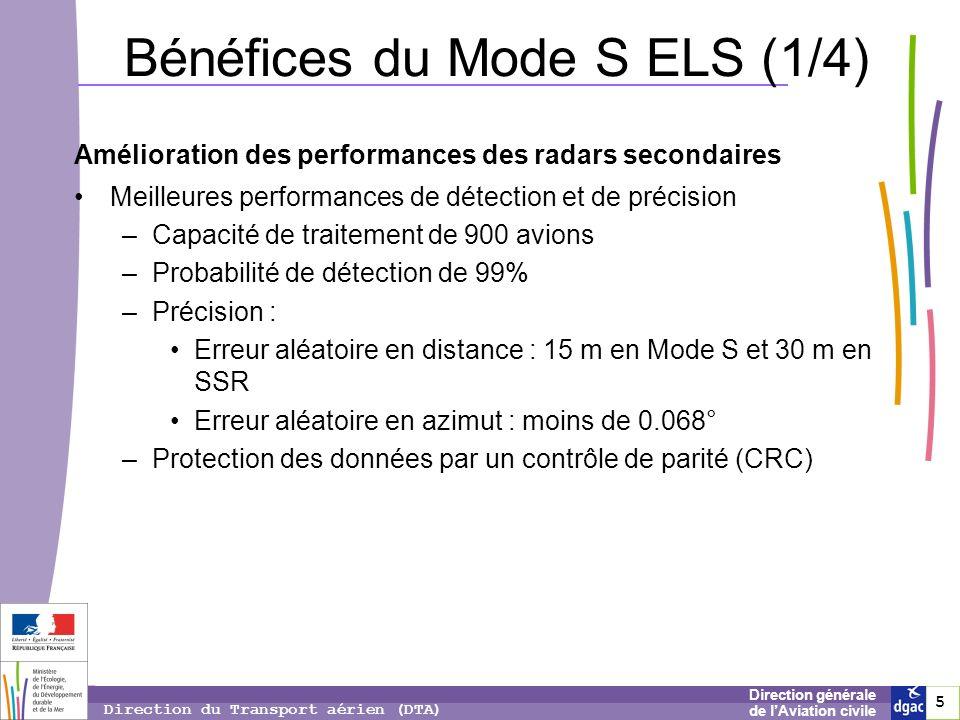 Bénéfices du Mode S ELS (1/4)