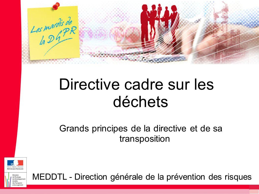 Directive cadre sur les déchets