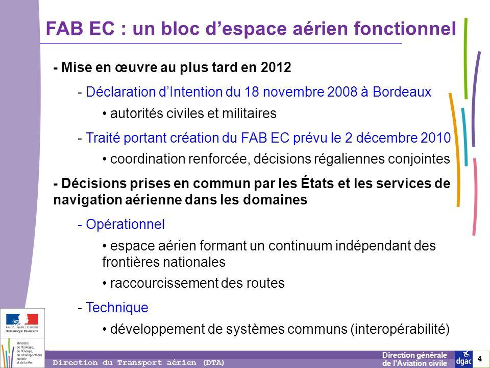 FAB EC : un bloc d'espace aérien fonctionnel